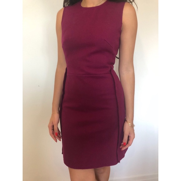 Victoria Beckham Dresses & Skirts - Victoria Beckham Wool Burgundy Dress